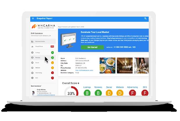 Business Snapshot Report - Local Digital Marketing Intelligence Tool